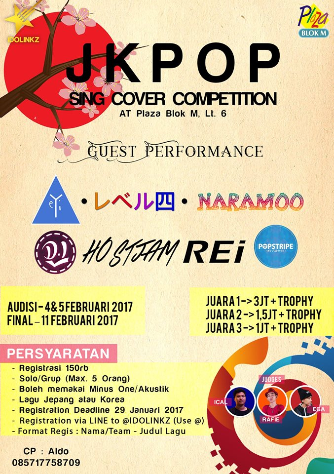 JKPOP Sing Cover Competition - Plaza Blok M, Februari 2017