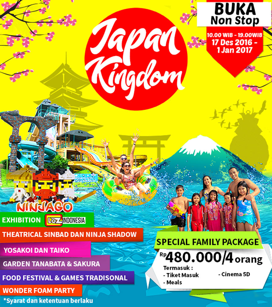 Japan Kingdom Ciputra Waterpark Surabaya, 17 Desember - 1 Januari 2016