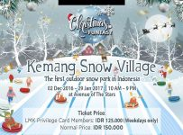 Kemang Snow Village - Avenue of the Stars Lippo Mall Kemang, 02 Des - 9 Jan 2017