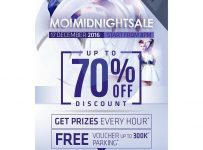 Mall of Indonesia Midnight Sale, Periode 17 Desember 2016