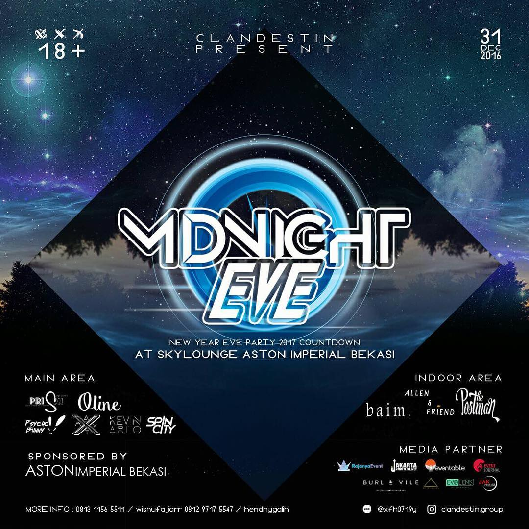Midnight Eve - Sky Lounge Aston Imperial Bekasi, 31 Desember 2016