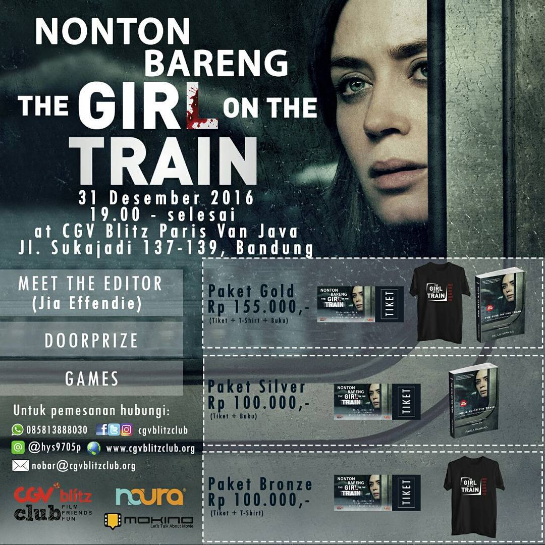 Nonton Bareng The Girl on the Train - CGV Blitz Paris van Java, 31 Desember 2016