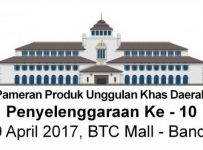 PUKD Bandung Expo - BTC Fashion Mall, 6 - 9 April 2017