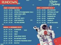 Rundown Musik Pameran Distro & Clothing Surabaya, 9 - 11 Desember 2016