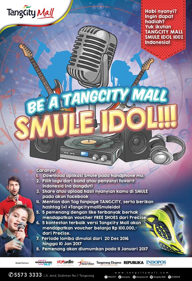 Tangcity Mall Smule Idol 100% Indonesia, Periode 20 Desember 2016 - 10 Januari 2017