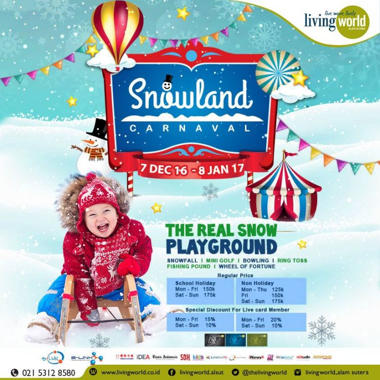 The 1st Snowland Carnaval In Indonesia