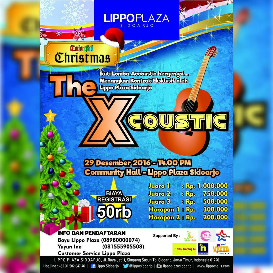 """The Xcoustic"" Accoustic Competition - Lippo Plaza Sidoarjo, 29 Desember 2016"