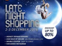 Tunjungan Plaza Late Night Shopping, Periode 2 - 3 Desember 2016