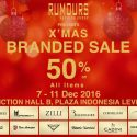 X'mas Branded Sale - Plaza Indonesia, 7 - 11 Desember 2016
