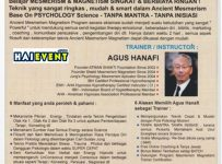 2 Days Workshop Ancient Mesmerism & Magnetism - Amaris Hotel Juanda Jakarta, 11 - 12 Februari 2017