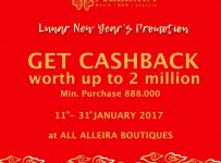 Alleira Lunar New Year's Promotion, Periode Sampai 31 Januari 2017