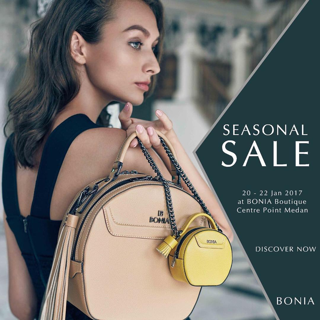 Bonia Seasonal Sale, Periode 20 - 22 Januari 2017