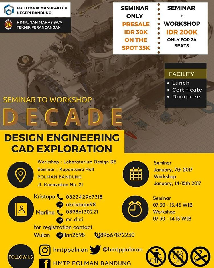 DECADE (Design Engineering CAD Exploration) - Polman Bandung, Januari 2017