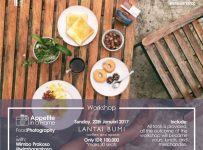 "Food Photography with Wimbo Prakoso ""Appetite In a Frame"" - Yogyakarta, 22 Januari 2017"