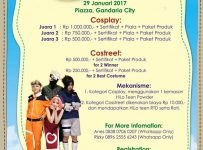 Hi Lo Cosplay & Costreet Competition #TeenArtivity - Gandaria City Jakarta, 29 Januari 2017