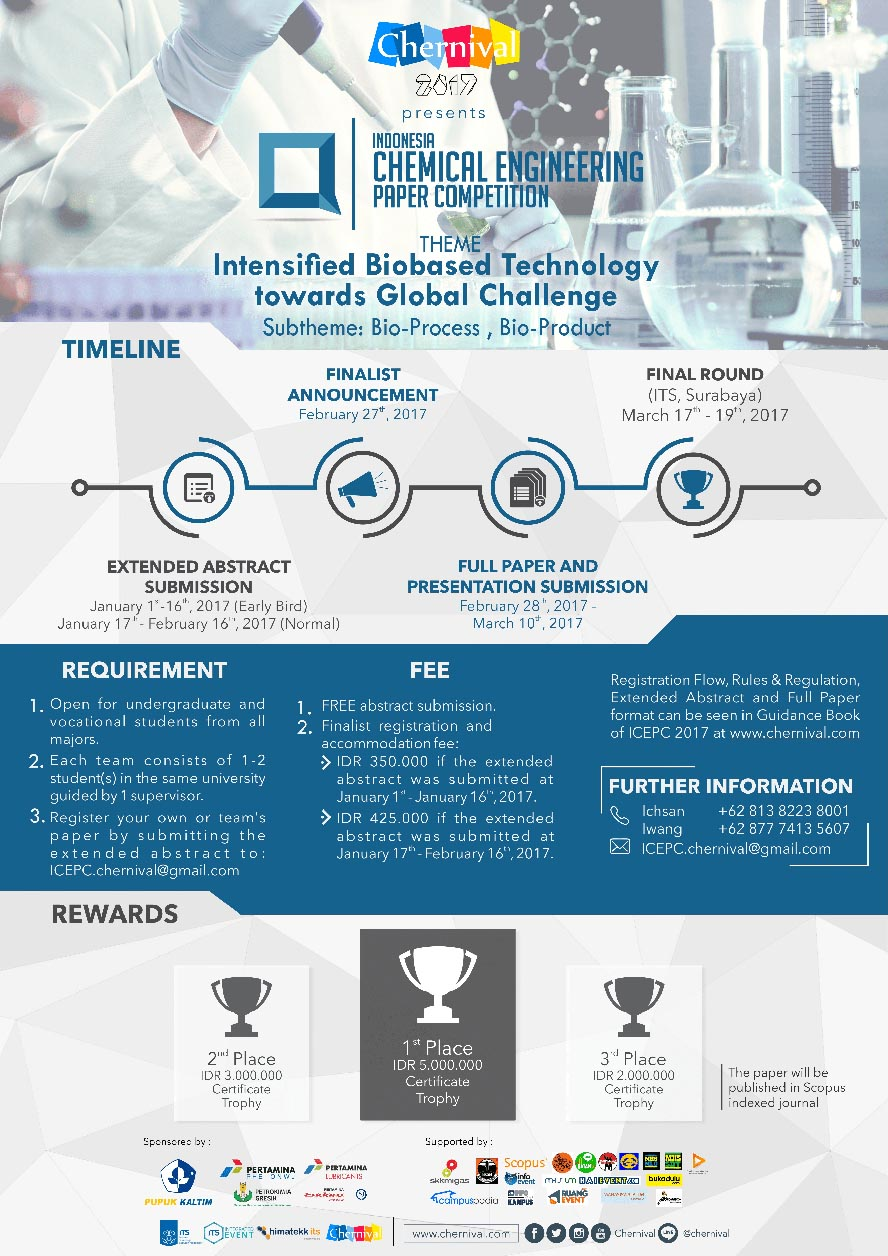 Indonesia Chemical Engineering Paper Competition (ICEPC) 2017 - Surabaya