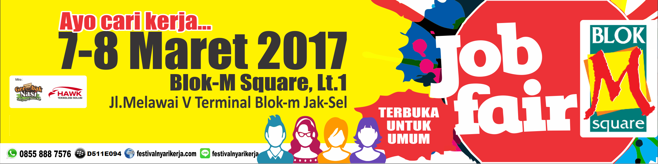 Job Fair ​Akbar ​Mall ​Blok M Square​, 7 – 8 Maret ​2017