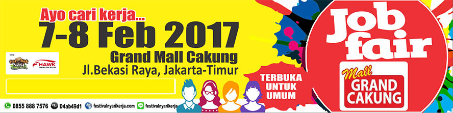 Job Fair ​Akbar ​Mall Grand Cakung, 7 - 8 Februari ​​201​7​