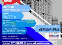 Job Fair Kampus Untirta - Cilegon, 17 - 18 Januari 2017
