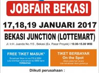 Jobfair Bekasi Junction, 17 - 19 Januari 2017
