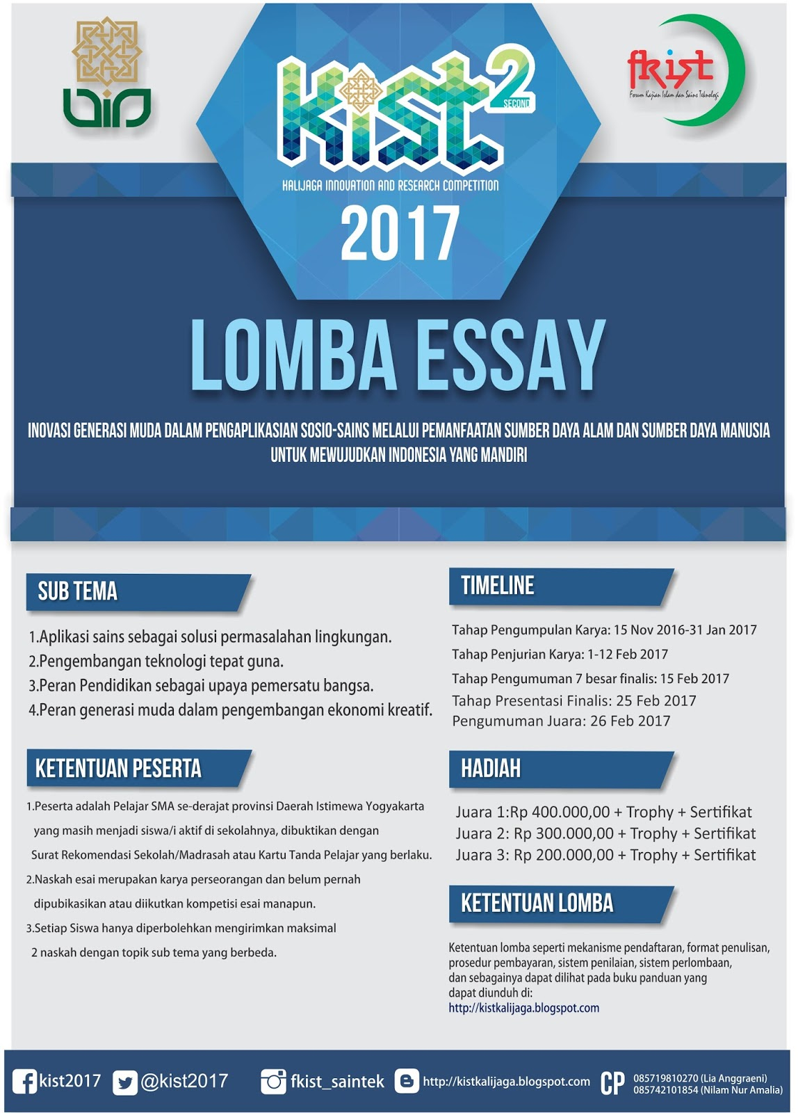 KIST 2nd (Kalijaga Innovation and Research Competition) 2017