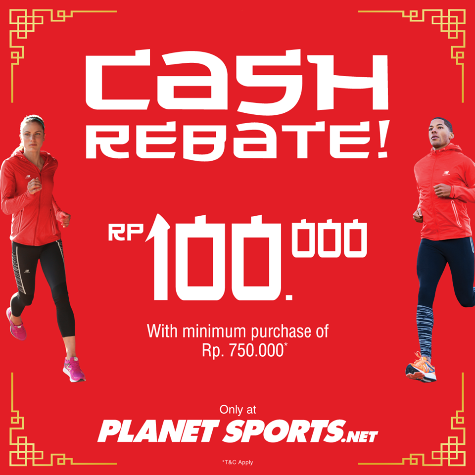 Planet Sports Cash Rebate, Periode 9 Januari - 5 Februari 2017