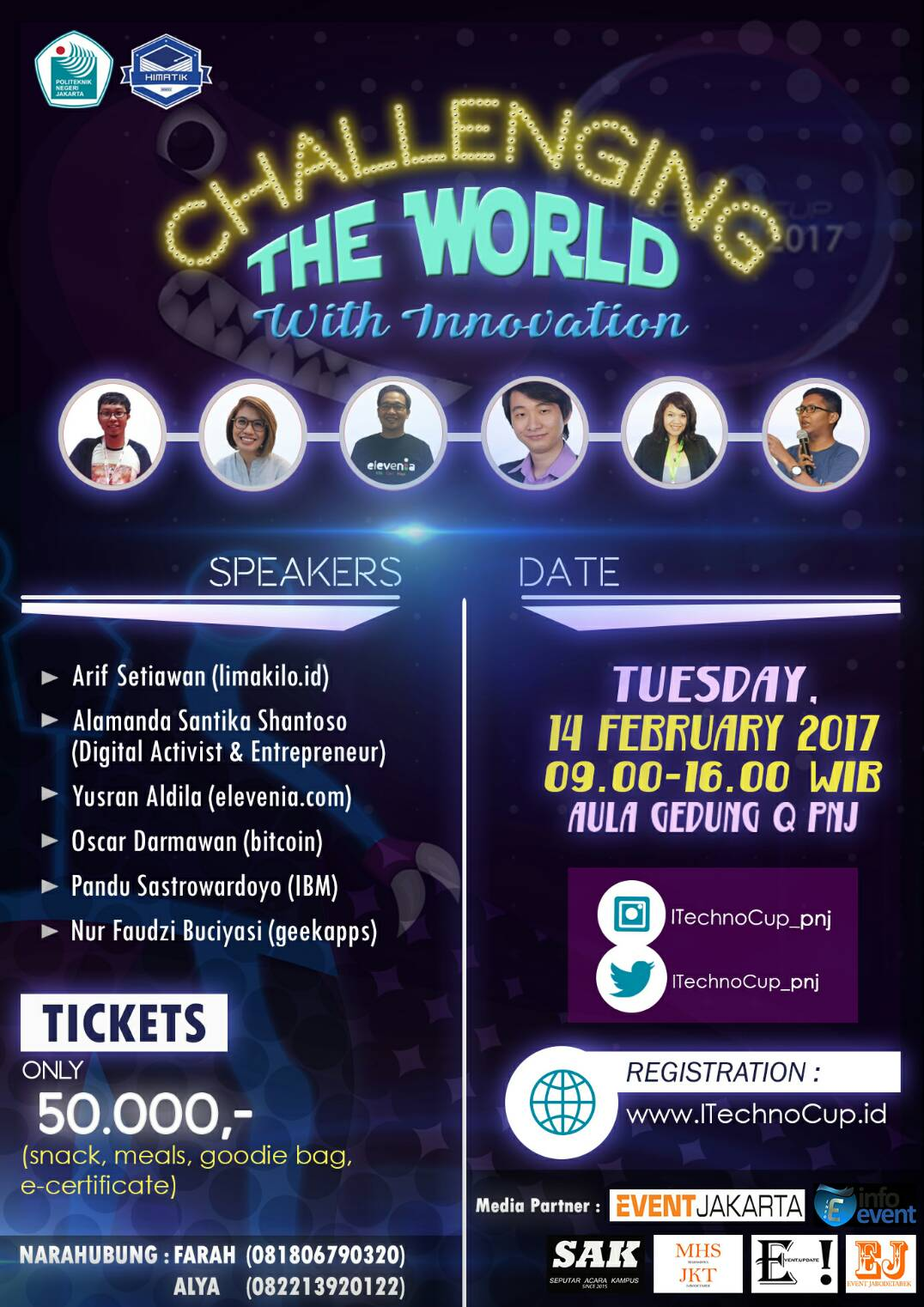 "Seminar Pra-ITechnoCup ""Challenging The World With Innovation"" - PNJ, 14 Februari 2017"