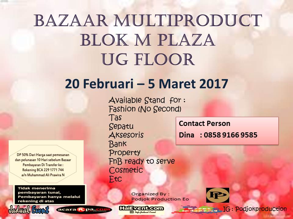 Shopping Time @ Blok M Plaza, 20 Februari - 05 Maret 2017