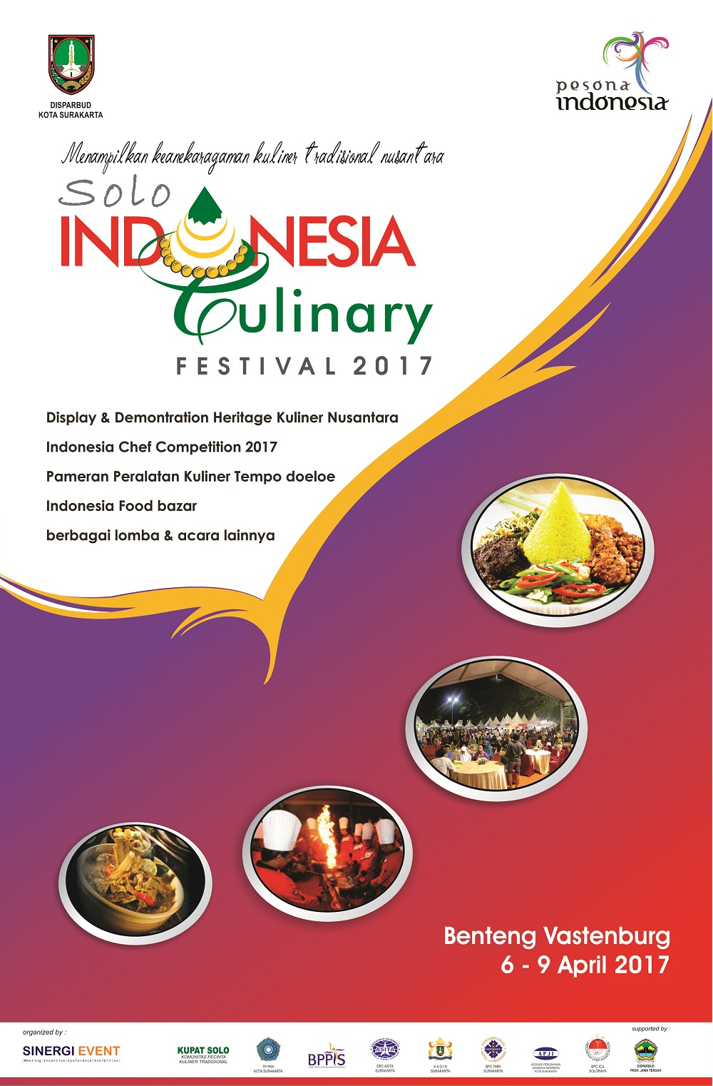 Solo Indonesia Culinary Festival - Halaman Benteng Vastenburg, 6 - 9 April 2017