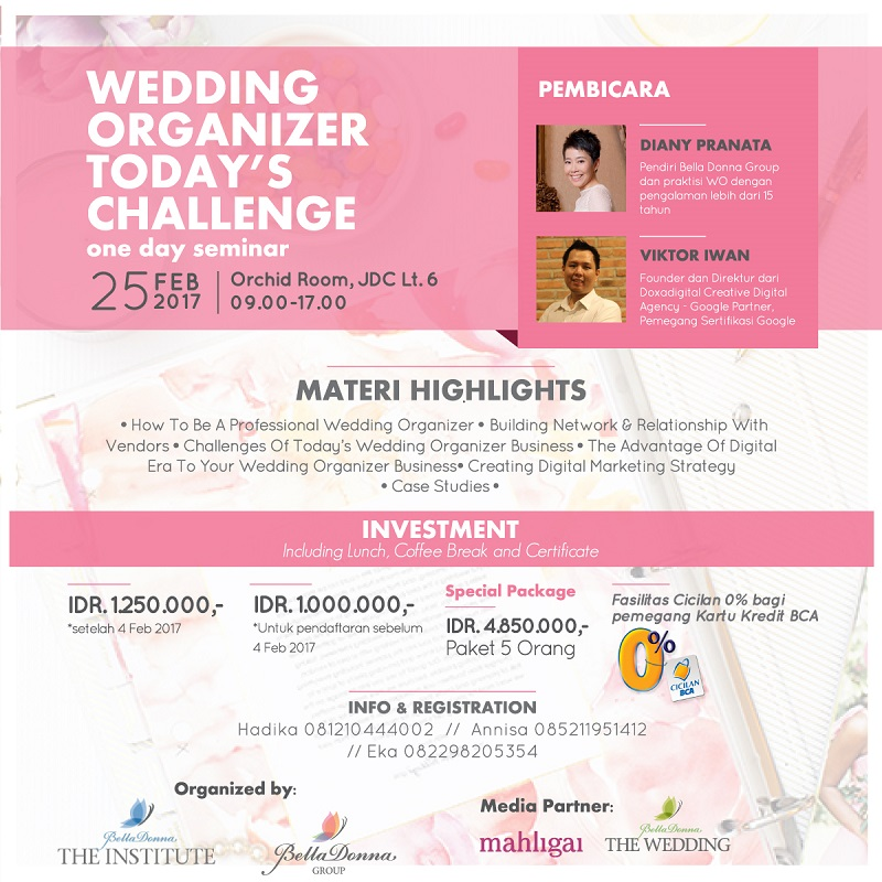 Wedding Organizer Today's Challenge One Day Seminar - Jakarta Design Center, 25 Februari 2017