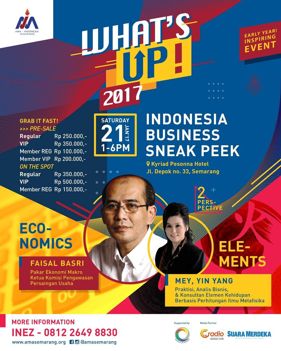What's Up!2017 : Indonesia Business Sneak Peek - Kyriad Pesonna Hotel Semarang, 21 Januari 2017