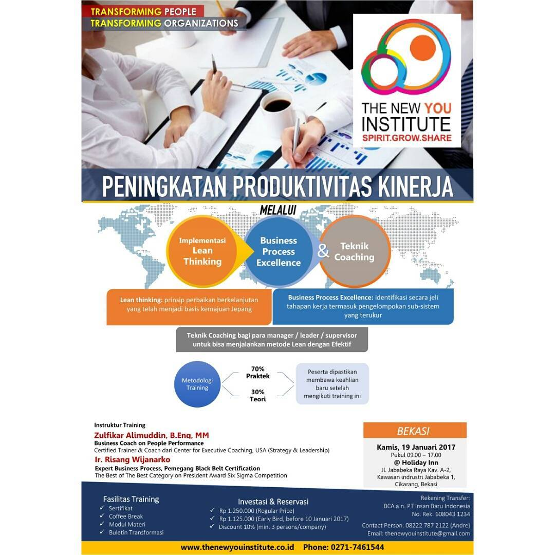 "Workshop Interactive Class ""Peningkatan Produktivitas Kinerja"" - Holiday Inn Cikarang Jababeka, 19 Jan 2017"