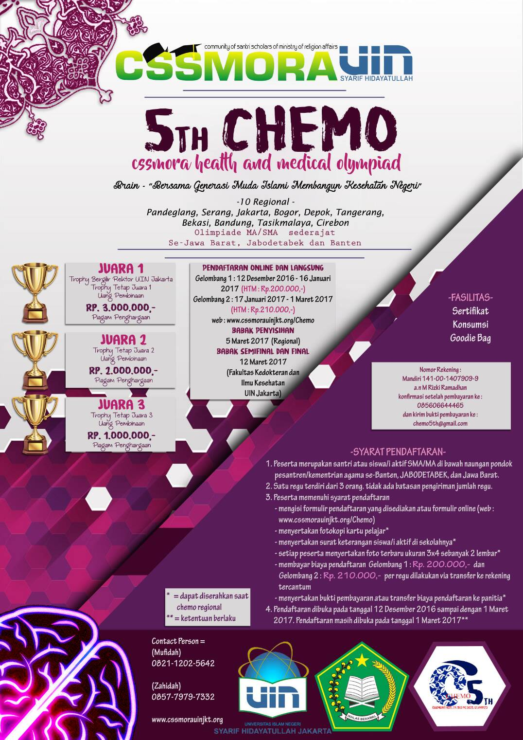 5th CHEMO: Cssmora Health and Medical Olympiad - UIN, Maret 2017