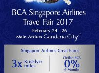 BCA Singapore Airlines Travel Fair - Gandaria City Jakarta, 24 - 26 Februari 2017
