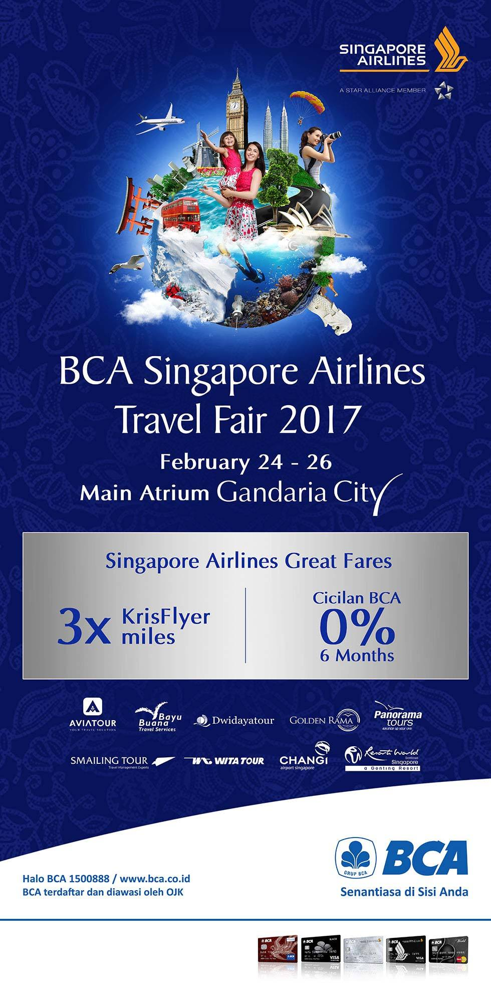 BCA Singapore Airlines Travel Fair - Gandaria City Jakarta