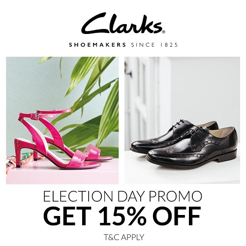 Clarks Election Day Promo, Periode 15 Februari 2017