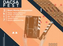Dacsafest 2017 : Short Movie Competition, Periode 1 Feb - 31 Mar'17