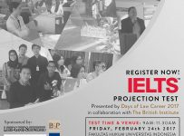 Days of Law Career 2017 UI : IELTS Projection Test, 24 Februari'17