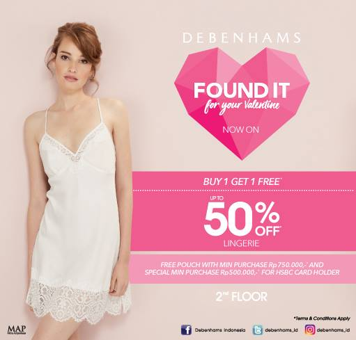 Debenhams Special Offer, Periode Februari 2017