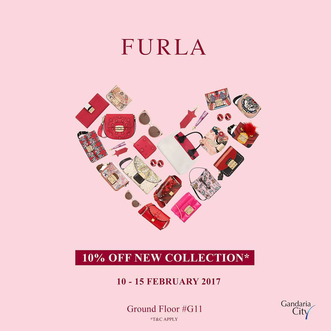 Furla Discount for New Collection, Periode 10 - 15 Februari 2017