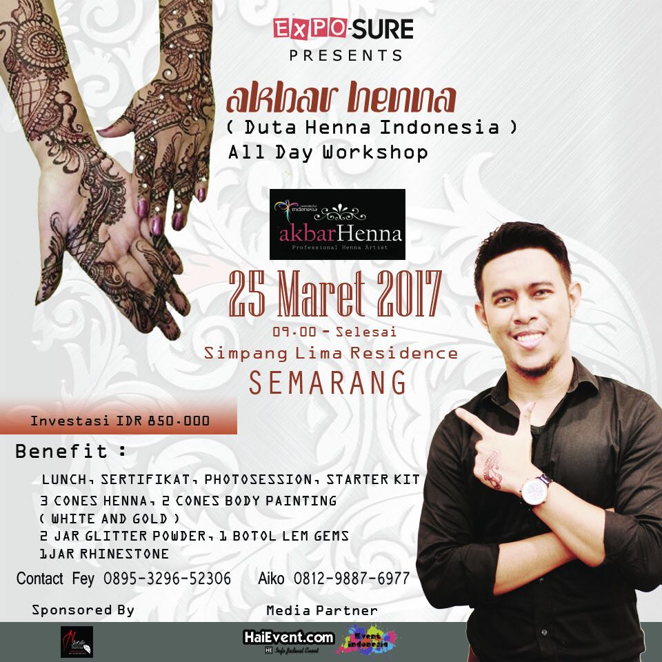 Henna Art Workshop with Akbar Henna Semarang - Simpang Lima Residence, 25 Maret 2017