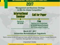 International Student Conference on Management and Business Studies (ISCOMBUS) 2017 - Universitas Muhammadiyah Yogyakarta