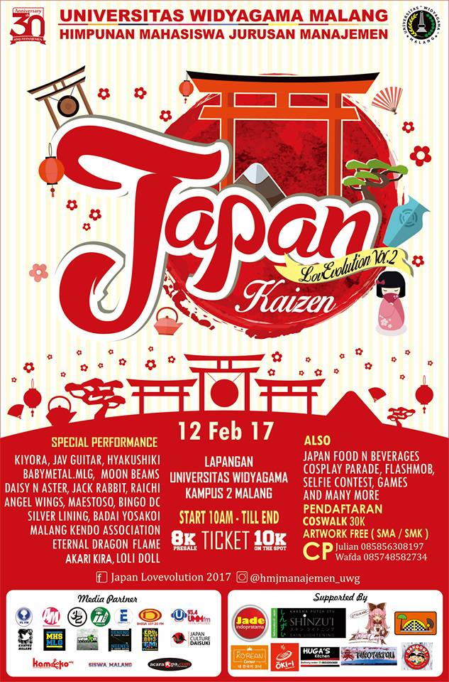 Japan LovEvolution Vol. 2 - Universitas Widyagama Malang (UWG), 12 Februari 2017