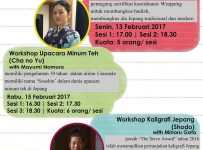 Japanese Workshop & Pemutaran Film - C2O Library & Collabtive Surabaya, 13 - 17 Februari 2017