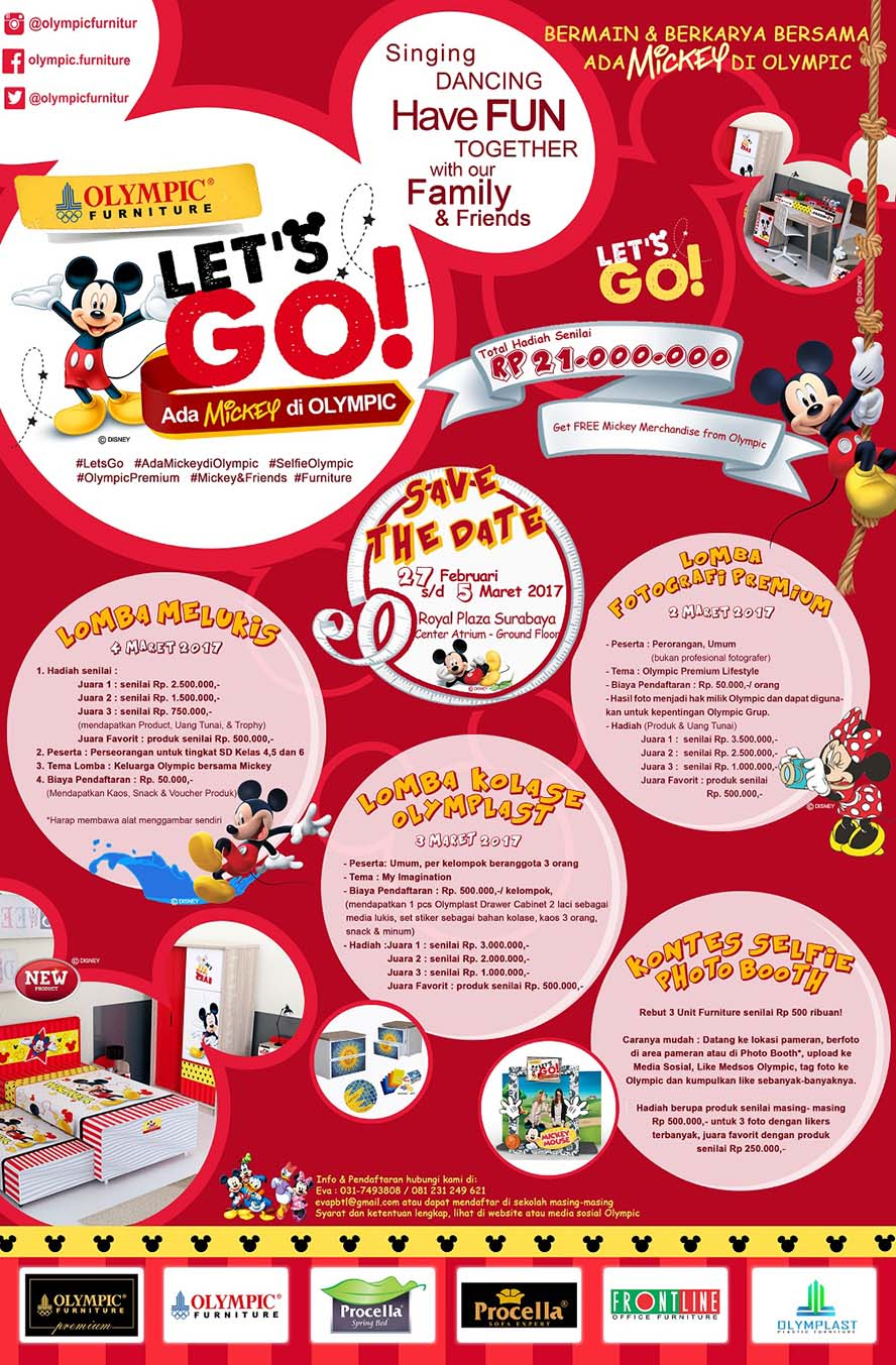 Launching Mickey Series Olympic Premium - Royal Plaza Surabaya, 27 Februari - 5 Maret 2017
