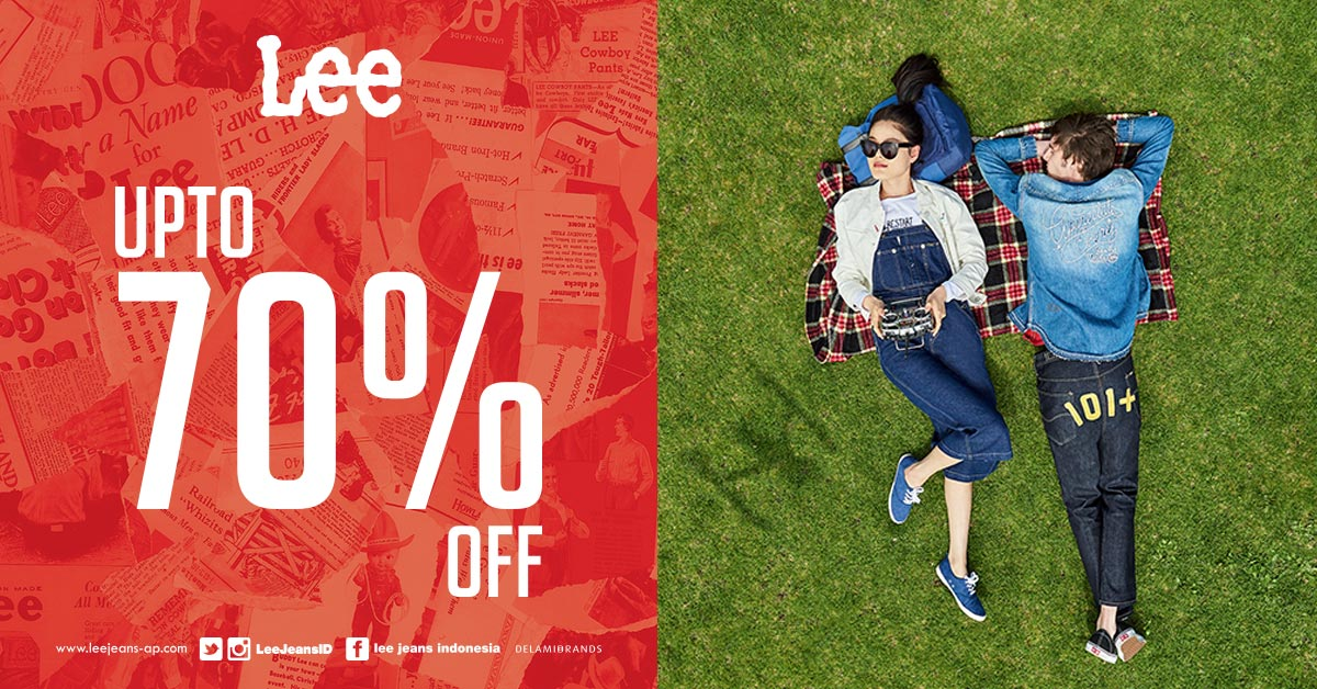 Lee Jeans Super Sale, Periode Sampai 12 Maret 2017
