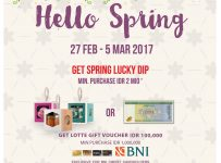 Lotte Shopping Avenue Hello Spring, Periode 27 Feb - 5 Mar 2017