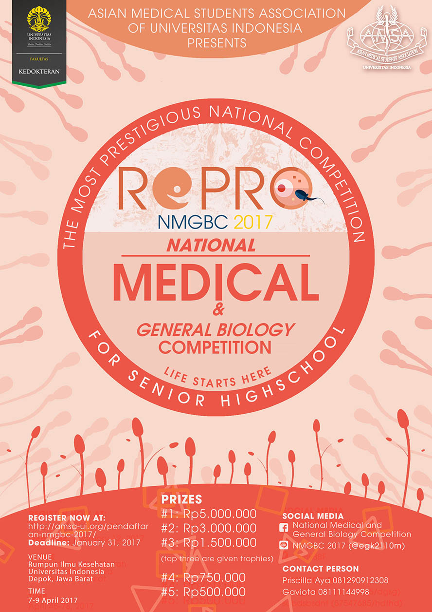 National Medical and General Biology Competition - Universitas Indonesia, 7-9 April 2017