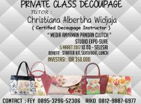 Private Class Decoupage with Chistiana Albertha Widjaja - Studio Expo-Sure, 05 Maret 2017
