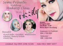Semi Private Wedding Makeup Class with Vizzily - Meize Hotel Bandung, 13 April 2017